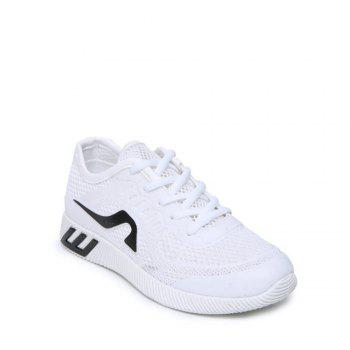 Hollow Out Color Block Casual Shoes - WHITE 38