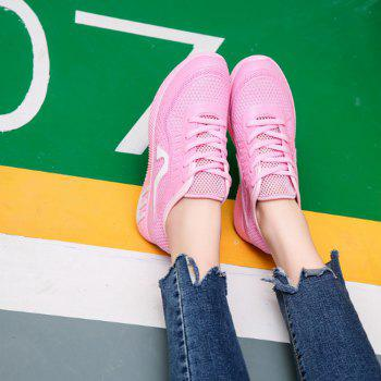 Hollow Out Color Block Casual Shoes - 36 36