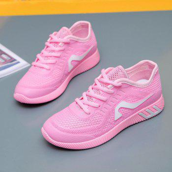 Hollow Out Color Block Casual Shoes - PINK PINK