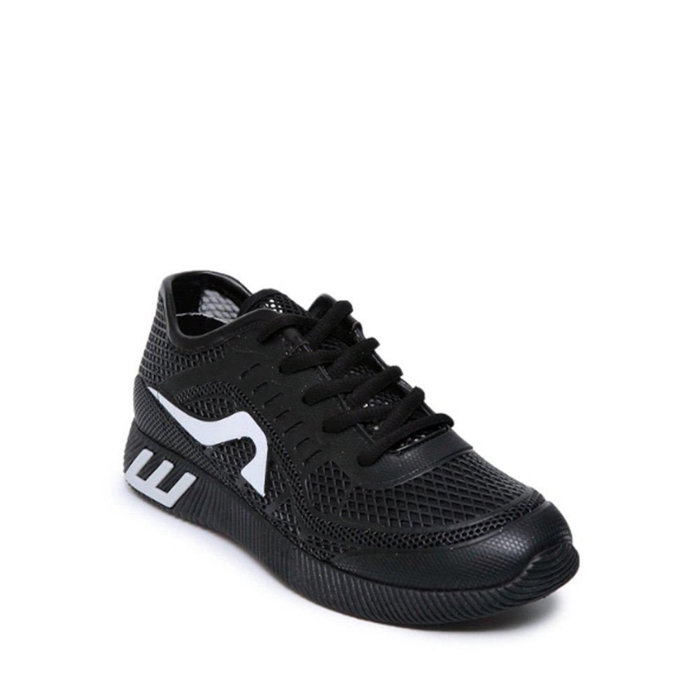 Hollow Out Color Block Casual Shoes - BLACK 36