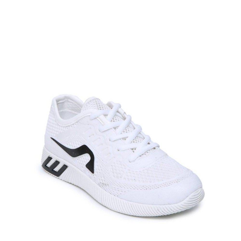 Hollow Out Color Block Casual Shoes - WHITE 36