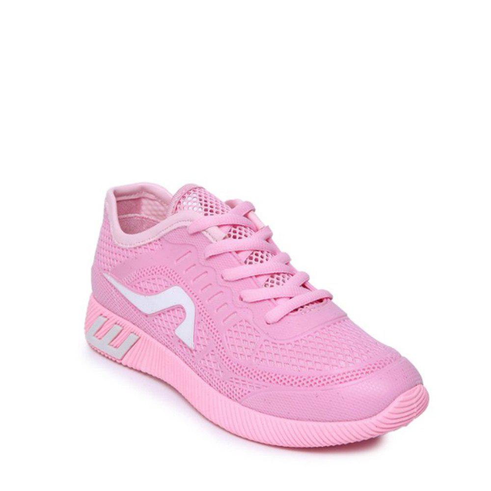 Hollow Out Color Block Casual Shoes - PINK 40