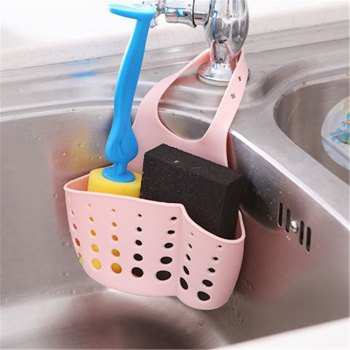 Adjustable Kitchen Sink Storage Bag -  multicolor COLOR