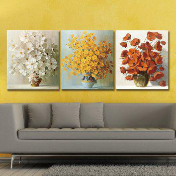 Dyc 10019 3PCS Flowers Print Art Ready To Hang Paintings - COLORMIX COLORMIX