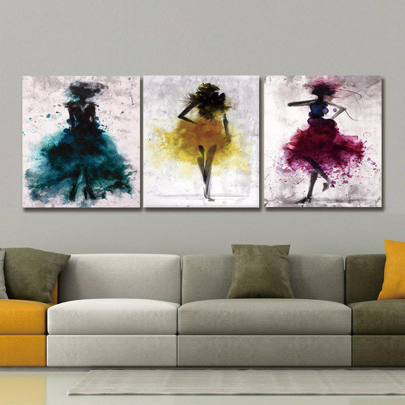 Dyc 10021 3PCS Abstract Print Art Ready To Hang Paintings - COLORMIX
