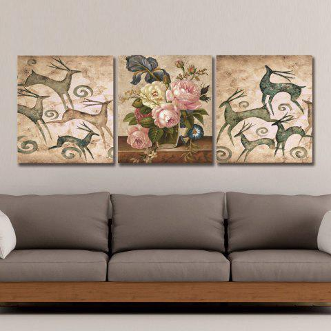 Dyc 10022 3PCS Abstract Print Art  Ready To Hang Paintings - COLORMIX