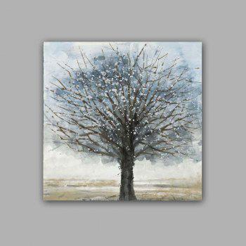 Happy Art Handed Top Grade Canvas Tree Oil Painting Wall