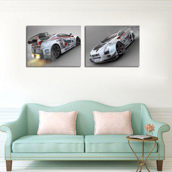 Hx-Art 2PCS No Frame Canvas Car Living Room Decorative Paintings - COLORMIX