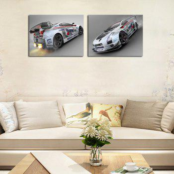 Hx-Art 2PCS No Frame Canvas Car Living Painting Peintures décoratives - multicolorcolore