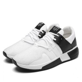 Color Block Lace-Up Sport Shoes - WHITE WHITE
