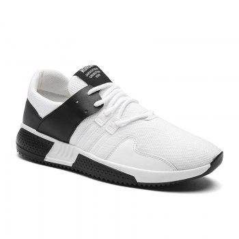 Color Block Lace-Up Sport Shoes - WHITE 44