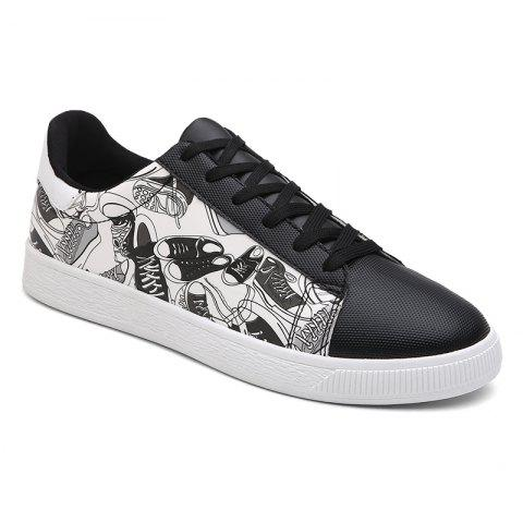 Shoes Pattern Printed Color Block Casual Shoes - GRAY 43