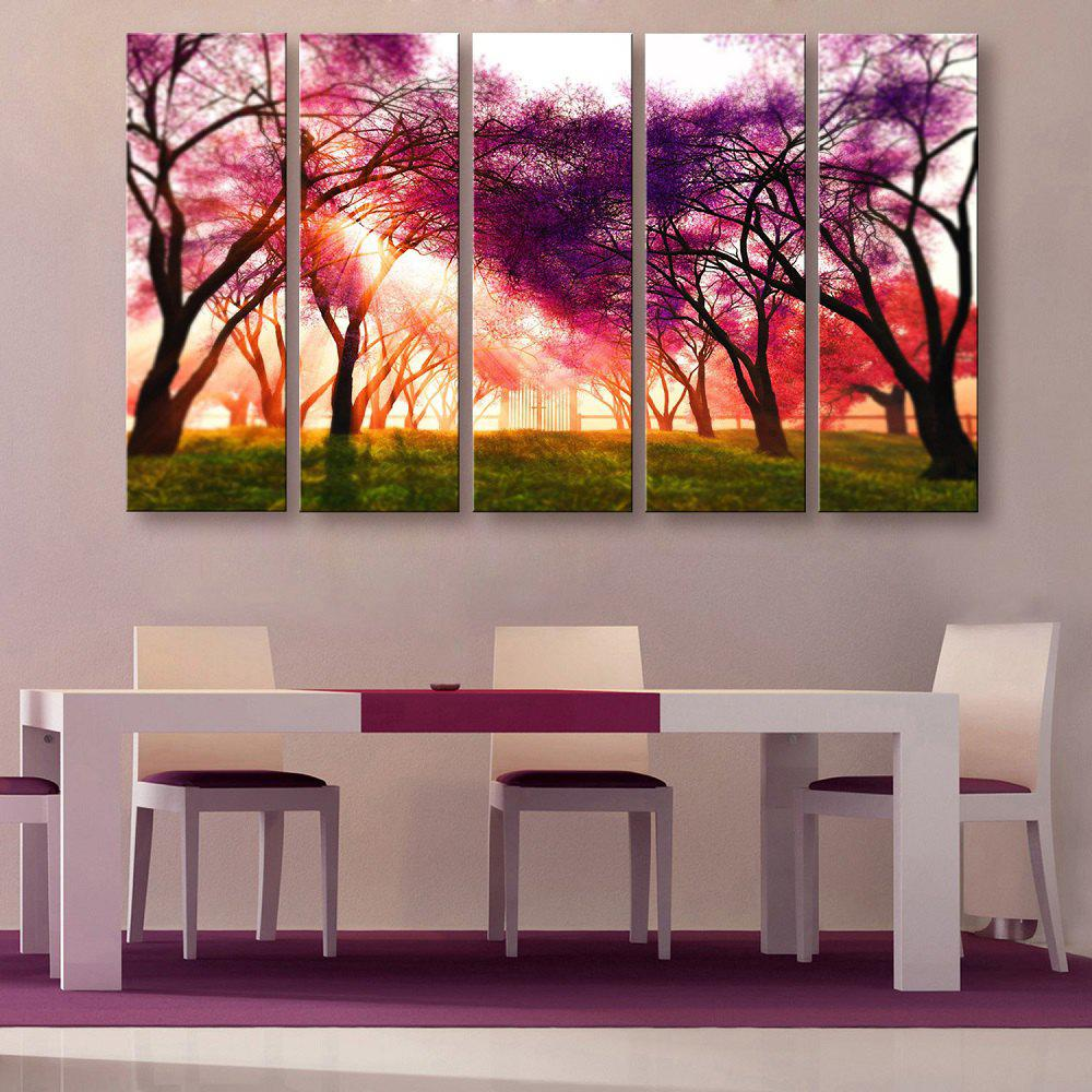Yc Special Design Frameless Paintings A Ray of Sunshine of 5 - PURPLE 12 X 35 INCH (30CM X 90CM)