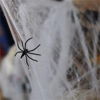 Popular Funny Plastic Spider Web Cotton for Halloween Party Decoration Bar Scene Props - SNOW WHITE