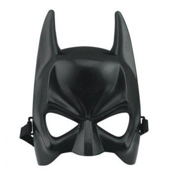 Hot Halloween Batman Adult Black Masquerade Mask Male Cool Half Face Costume Equipment - BLACK BLACK