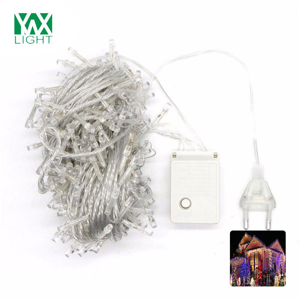 YWXLight 10M Christmas Outdoor Decoration Droop Curtain Icicle String LED Lights AC 200 - 240V christmas decoration 6 3m droop 600 led curtain string lights icicle 220v for new year garden christmas led light curtain