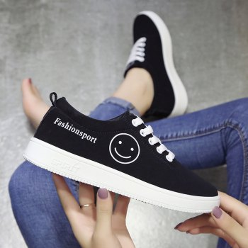 Ladies Casual Shoes Female Canvas Shoes - WHITE WHITE
