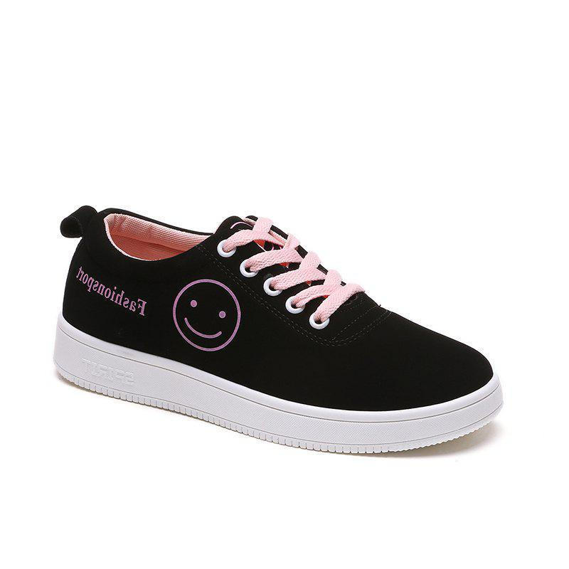 Ladies Casual Shoes Female Canvas Shoes - PINK 35