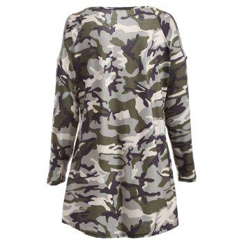 The New Long-Sleeved Camouflage Colored T-Shirt - XL XL