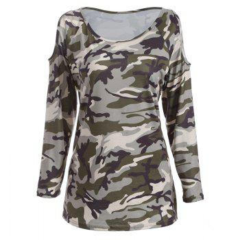 The New Long-Sleeved Camouflage Colored T-Shirt - CAMOUFLAGE XL