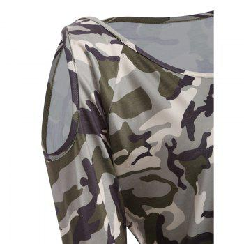 The New Long-Sleeved Camouflage Colored T-Shirt - CAMOUFLAGE CAMOUFLAGE