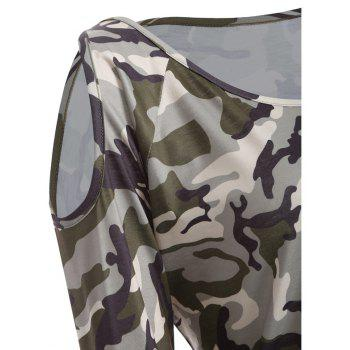 The New Long-Sleeved Camouflage Colored T-Shirt - CAMOUFLAGE M