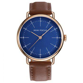 MINI FOCUS Mf0056g 4530 Fashion Contracted Dial Men Watch - BROWN + BLUE BROWN / BLUE