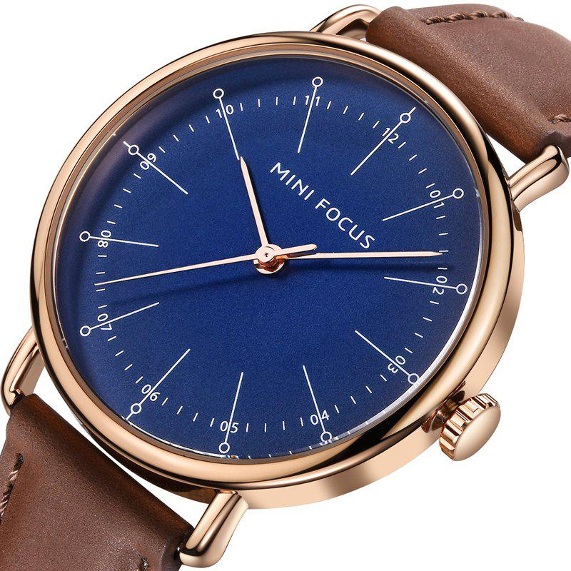 MINI FOCUS Mf0056g 4530 Fashion Contracted Dial Men Watch - BROWN / BLUE
