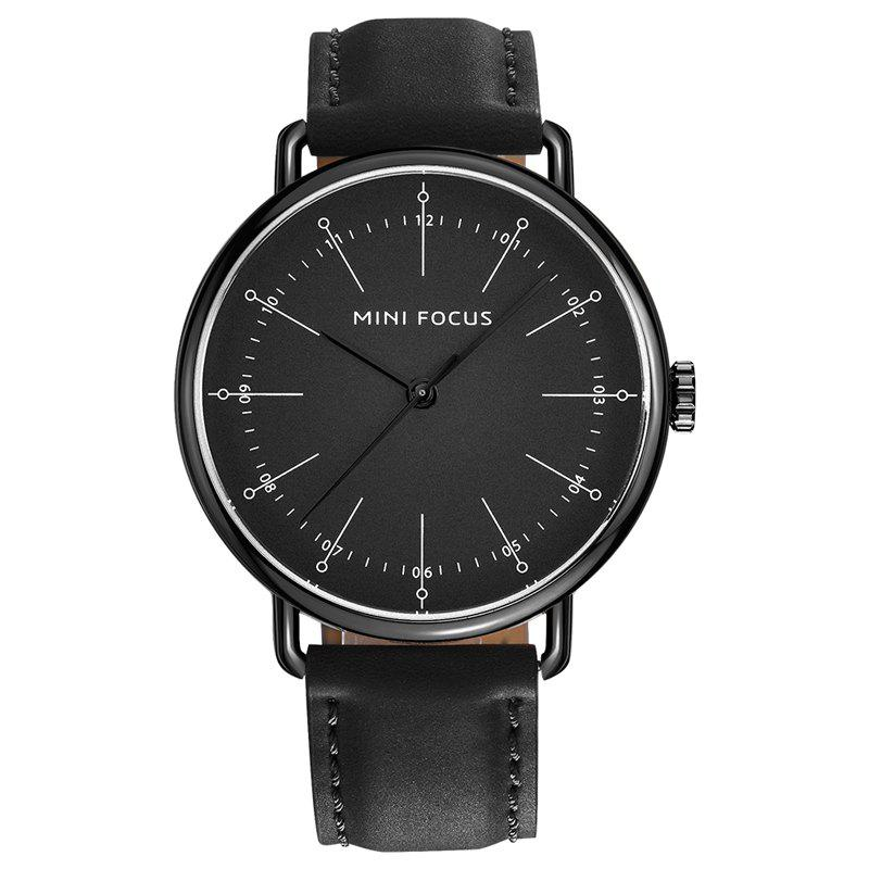 MINI FOCUS Mf0056g 4530 Fashion Contracted Dial Men Watch - BLACKS