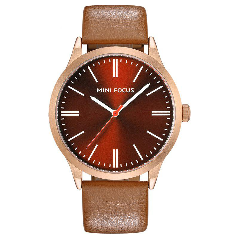 MINI FOCUS Mf0058G 4531 Fashion Quartz Men Watch - MOCHA
