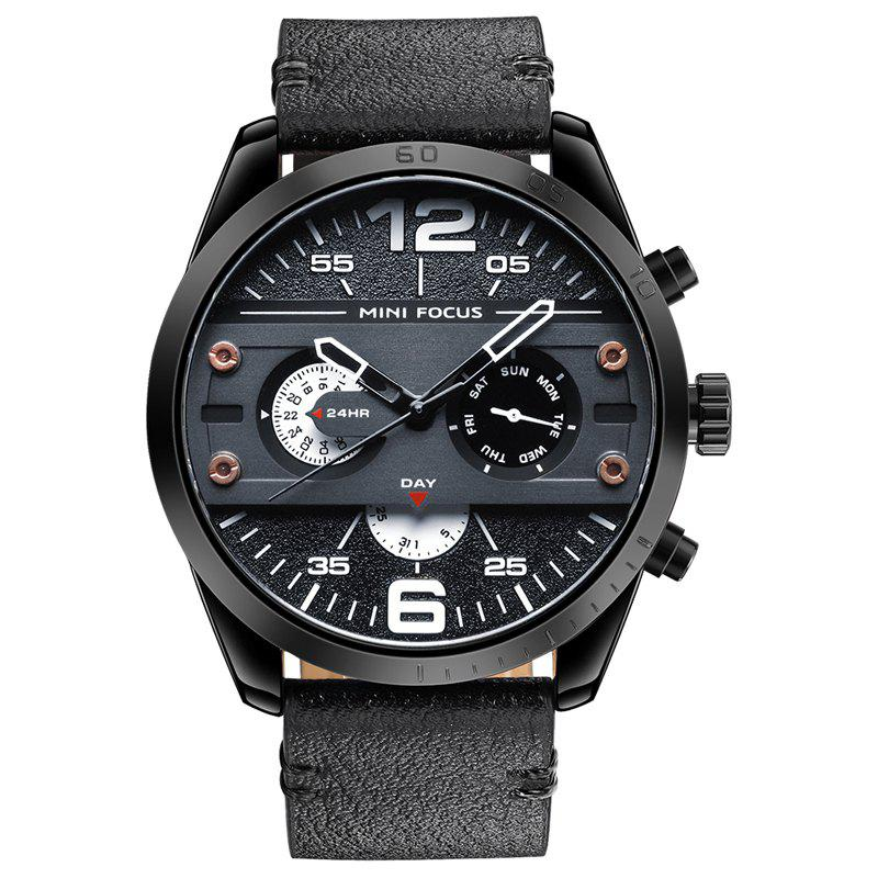 MINI FOCUS Mf0068G 4532 Leisure Dial Decor Men Watch - BLACK