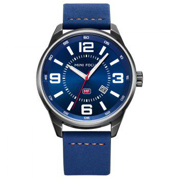 MINI FOCUS Mf0050G 4447 Luminous Needle Men Watch - BLUE BLUE