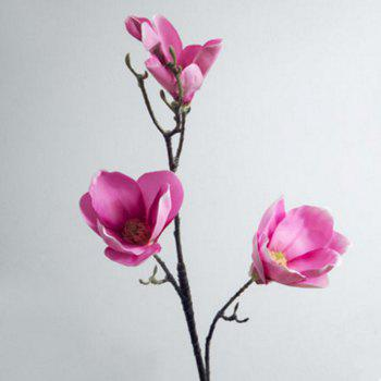 1 Branch European Style Magnolia Flower Home Decoration Artificial Flower - ROSE RED ROSE RED