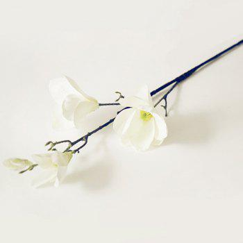 1 Branch European Style Magnolia Flower Home Decoration Artificial Flower -  WHITE
