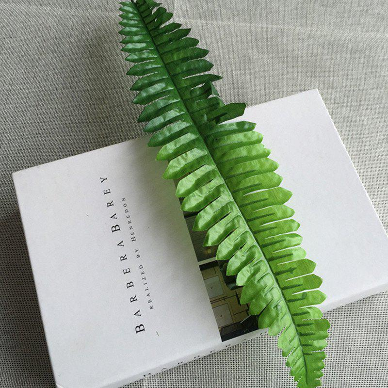 10 Branch Simulation Fern-Leaf Plant Wall Decorate Artificial Flower - LIGHT GREEN