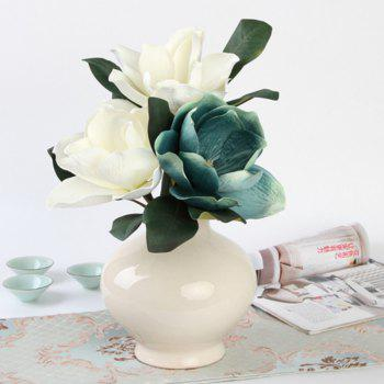 1 Branch Classical Kapok European Style Home Decoration Artificial Flower -  WHITE