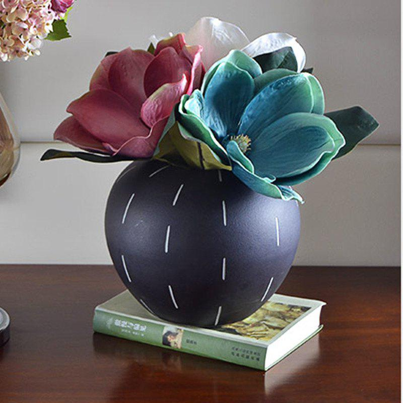 1 Branch Classical Kapok European Style Home Decoration Artificial Flower - BLUE