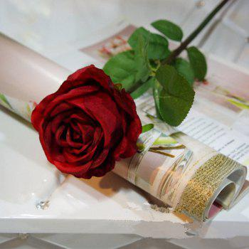 1 Branch High Simulation European Classic Rose Home Decoration Artificial Flower - VALENTINE