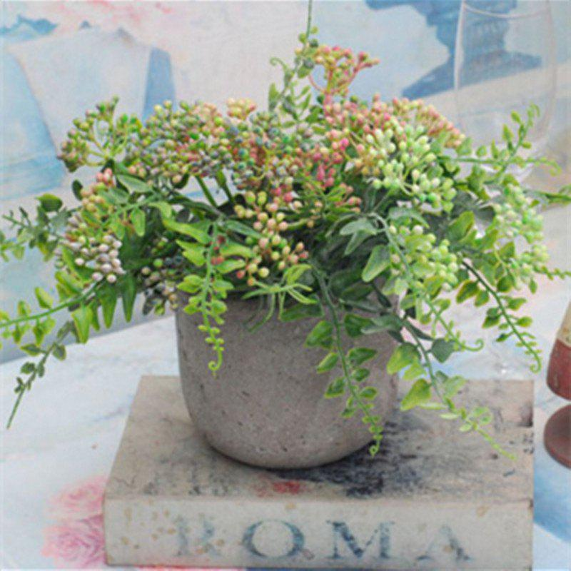 6 Branch Simulation Loose Fern Fruit Home Decoration Artificial Flower - PINK