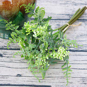 6 Branch Simulation White Loose Fern Fruit Home Decoration Artificial Flower - WHITE WHITE