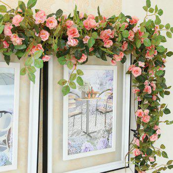 High Fidelity Rose Flower Rattan Home Decoration Artificial Flower 170CM - PINK