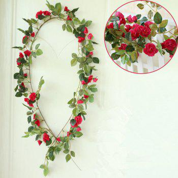 High Fidelity Rose Flower Rattan Home Decoration Artificial Flower 170CM - RED RED