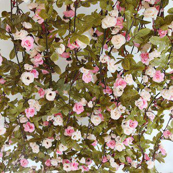 230CM 51HEADS Flower High Fidelity Rose Flower Rattan Home Decoration - LIGHT PINK