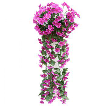 1 Bouquet Wall Flower Hydrangea Gillyflower Home Decoration Artificial Flower - ROSE RED