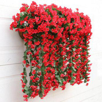 1 Bouquet Wall Flower Hydrangea Gillyflower Home Decoration Artificial Flower -  RED
