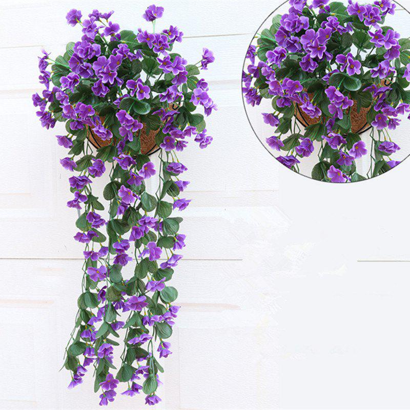 1 Bouquet Wall Flower Hydrangea Gillyflower Home Decoration Artificial Flower - PURPLE