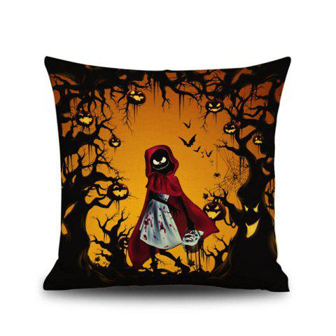 Halloween Little Red Riding Hood Square Linen Decorative Throw Pillow Case Kawaii Cushion Cover - COLORMIX