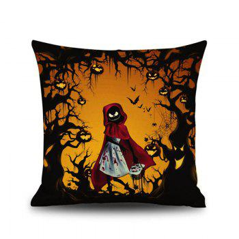 Halloween Little Red Riding Hood Square Linen Decorative Throw Pillow Case Kawaii Cushion Cover - COLORMIX COLORMIX