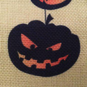 Halloween Pumpkin Tree 2 Square Linen Decorative Throw Pillow Case Cushion Cover -  COLORMIX
