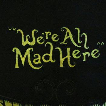 Halloween Clown We Are All Mad Here Linen Decorative Throw Pillow Case Cushion Cover - COLORMIX